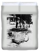 Atget: Delivering Bread Duvet Cover