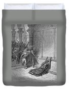 Athaliah (d. 836 B.c.). /nqueen Of Judah, C842-836 B.c. The Death Of Athaliah (ii Chronicles 22:10, 23:15). Wood Engraving, 19th Century, After Gustave Dor� Duvet Cover