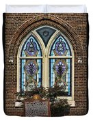 Athens Alabama First Presbyterian Church Stained Glass Window Duvet Cover