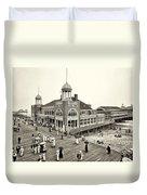 Atlantic City Steel Pier 1910 Duvet Cover