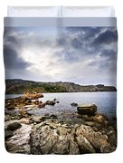 Atlantic Coast In Newfoundland Duvet Cover