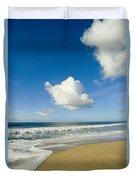 Atlantic Ocean Waves Break On The Beach Duvet Cover