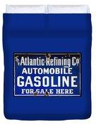 Atlantic Refining Co Sign Duvet Cover