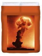 Atomic Bomb Explosion Duvet Cover