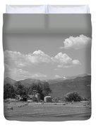 August Hay 75th  St Boulder County Colorado Black And White  Duvet Cover