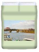 Augustus Bridge Dresden Germany Duvet Cover