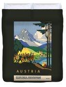 Austrian Alps Duvet Cover