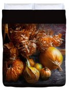 Autumn - Gourd - Still Life With Gourds Duvet Cover by Mike Savad