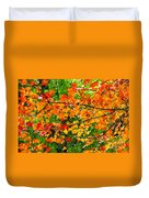 Autumn Abstract Painterly Duvet Cover