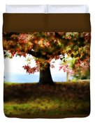 Autumn Acorn Tree Duvet Cover
