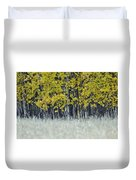 Autumn Aspen Grove Near Glacier National Park Duvet Cover