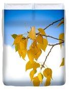 Autumn Aspen Leaves Duvet Cover