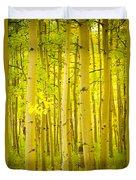 Autumn Aspens Vertical Image  Duvet Cover