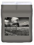 Autumn Barn Black And White Duvet Cover