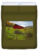 Autumn Barn Painted Duvet Cover