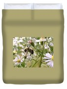 Autumn Bumblebee And Flowers Duvet Cover