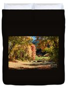 Autumn Campground In Blacksmith Fork Canyon - Utah Duvet Cover