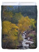 Autumn Canyon Colorado Scenic View Duvet Cover