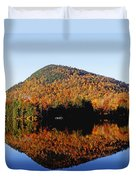 Autumn Colours Reflected In Water Duvet Cover