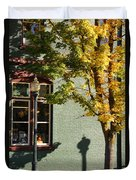 Autumn Detail In Old Town Grants Pass Duvet Cover