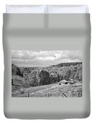 Autumn Farm 2 Monochrome Duvet Cover