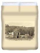 Autumn Farm Sepia Duvet Cover by Steve Harrington