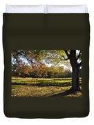 Autumn Field In Pennsylvania Duvet Cover