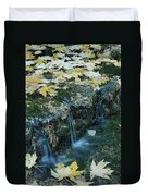 Autumn Foliage Floats Upon The Surface Duvet Cover