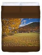 Autumn Foliage Scenery On Mohawk Trail Duvet Cover