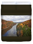 Autumn Foliage Scenery Viewed From French King Bridge Duvet Cover