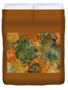Autumn Forest Tree Tops Abstract Duvet Cover