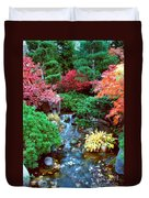 Autumn Garden Waterfall I Duvet Cover