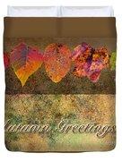 Autumn Greeting Card IIi Duvet Cover