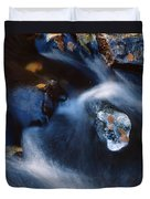 Autumn Ice In A Creek Duvet Cover
