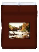 Autumn In New Hampshire Duvet Cover by Crystal Joy Photography