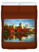 Autumn In The City Duvet Cover