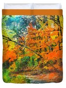 Autumn In The Forest Duvet Cover