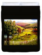 Autumn In The Valley Duvet Cover