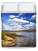 Autumn Lake Shore Duvet Cover