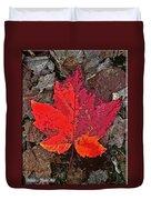 Autumn Leaf Art Iv Duvet Cover