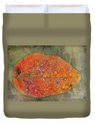 Autumn Leaf With Silver Trails Duvet Cover