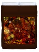 Autumn Leaves Abstract Duvet Cover