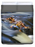 Autumn Leaves In Water Duvet Cover