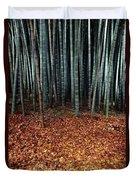 Autumn Leaves Litter The Ground Duvet Cover