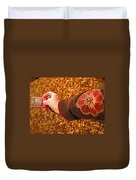 Autumn Leaves Times Two Duvet Cover