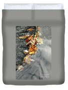 Autumn Leaves Tiny Dam Duvet Cover