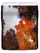 Autumn Looking Up Duvet Cover