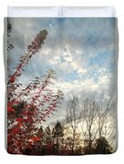 Autumn Maple And Sky Duvet Cover