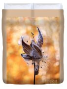Autumn Milkweeds Duvet Cover