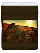 Autumn Morn In The Berry Field Duvet Cover